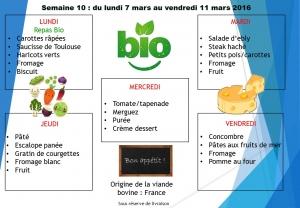 menu semaine 10 2016
