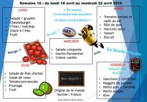 menu semaine 16 2016