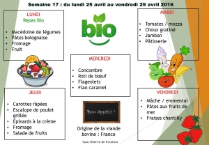 menu semaine 17 2016