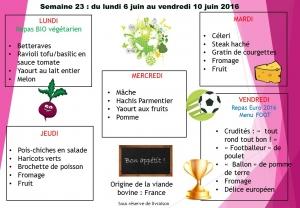 menu semaine 23 2016