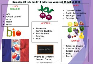 menu semaine 28 2016