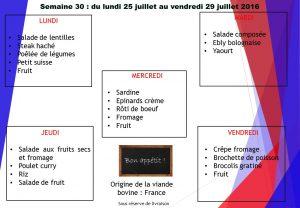menu semaine 30 2016