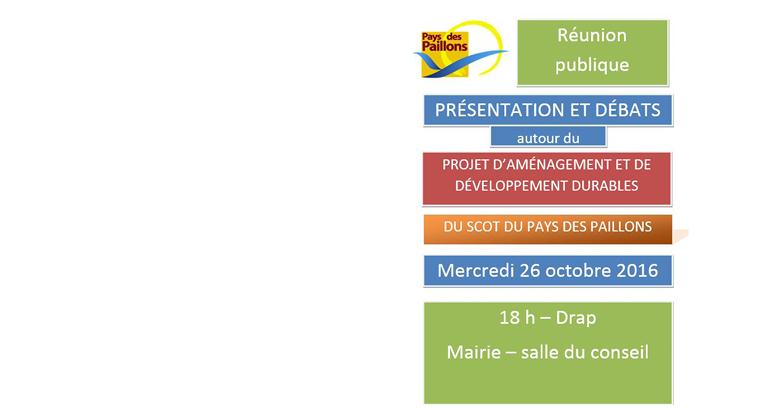 Réunion publique sur le Projet d'Aménagement et de Développement Durable du Schéma de Cohérence Territoriale