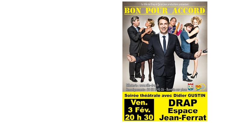 Didier Gustin revient à Drap dans une pièce de théâtre!